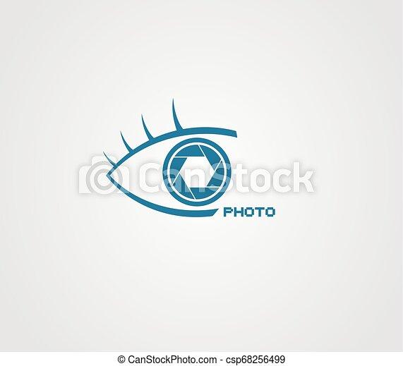 eye photo icon - csp68256499