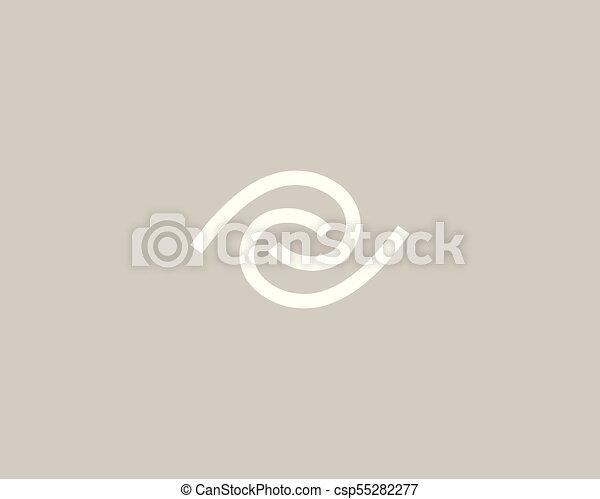 Eye swirl vector logo icon. Linear vision logotype. - csp55282277