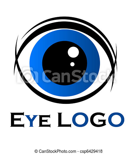 Eye Symbol Symbol Of Blue Eye Vector Illustration