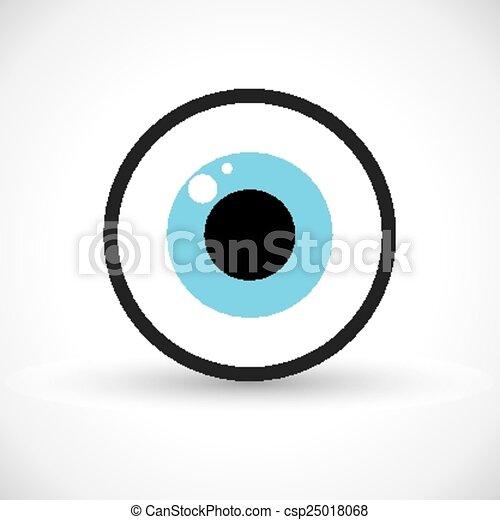 Eye symbol icon - csp25018068