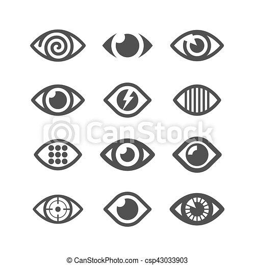 Eye Symbol Icons Vector Illustration