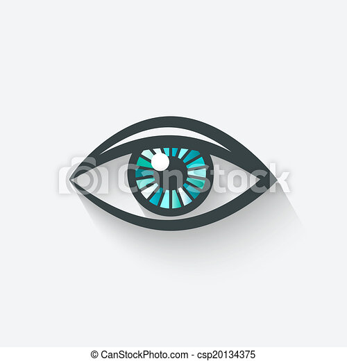 eye symbol - csp20134375