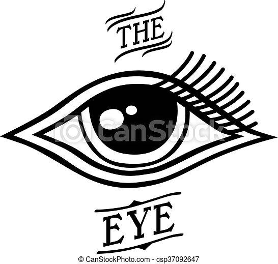 One Eye Symbol Theme Vector Art Illustration Eps Vector Search