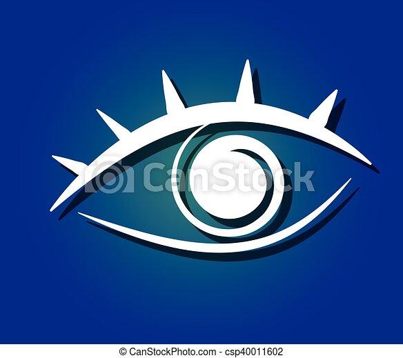 eye symbol vector - csp40011602