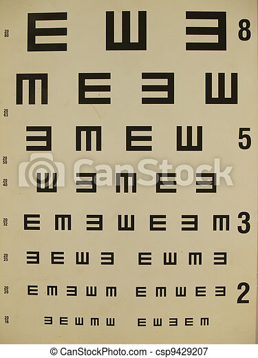 Eye Test Chart Old Paper
