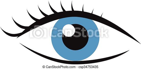 Eye with eyelashes - csp34753435