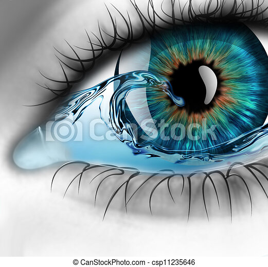 eye with water - csp11235646