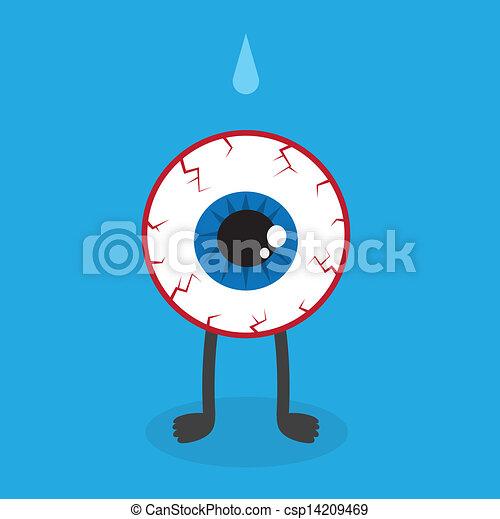 Eyeball Character Bloodshot  - csp14209469