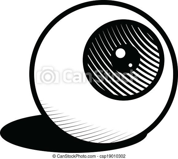 eyeball icon illustration of a single eyeball rh canstockphoto com vector eyeball inkscape eyeball vector illustration