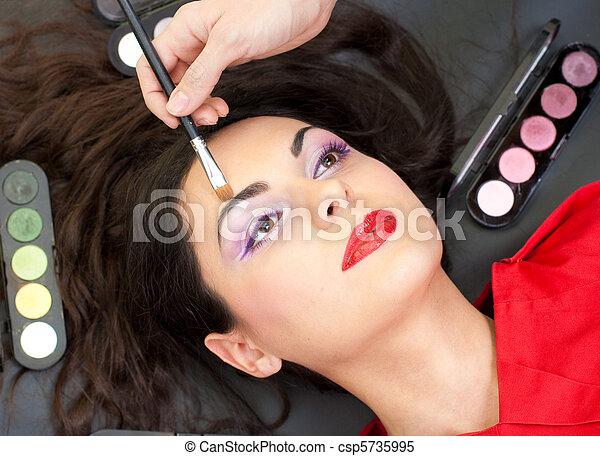 Eyebrow makeup routine - csp5735995