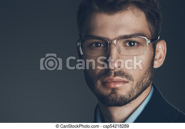 f4097c4e97d3 Eyeglasses for business. Elegant man in glasses. optics style for ...