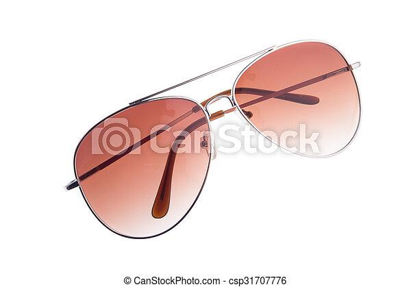 eyeglasses isolated on white background - csp31707776