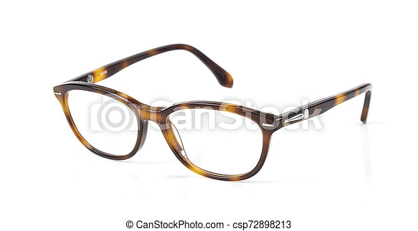 Eyeglasses isolated on white background - csp72898213