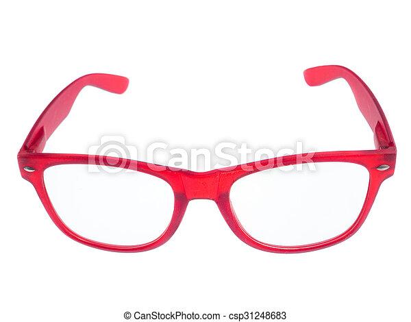 eyeglasses isolated on white background - csp31248683