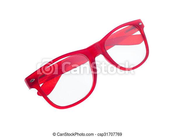eyeglasses isolated on white background - csp31707769