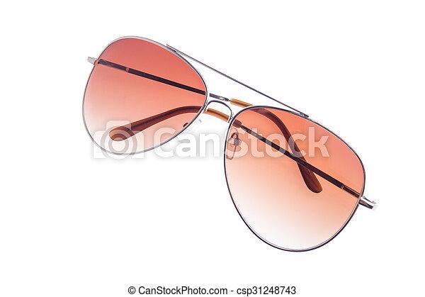 eyeglasses isolated on white background - csp31248743