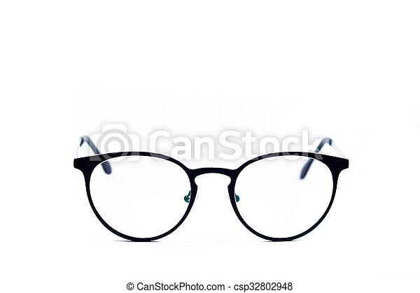 Eyeglasses isolated on white background - csp32802948