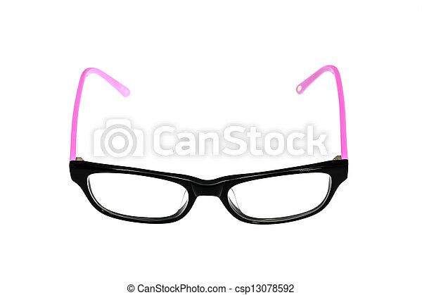 eyeglasses isolated on white background - csp13078592