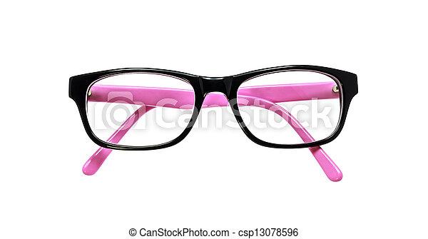 eyeglasses isolated on white background - csp13078596