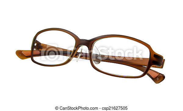 Eyeglasses isolated on white background - csp21627505