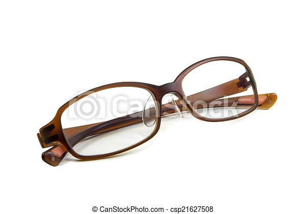 Eyeglasses isolated on white background - csp21627508