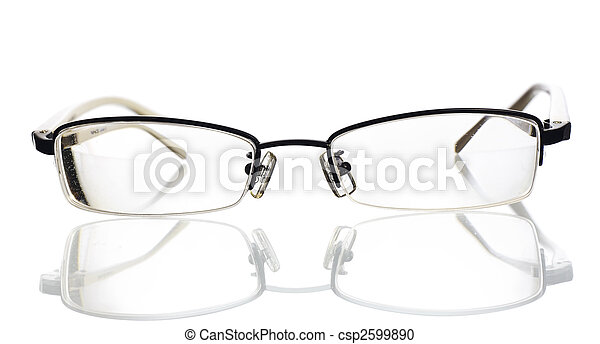 eyeglasses isolated on white background - csp2599890