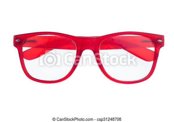eyeglasses isolated on white background - csp31248708
