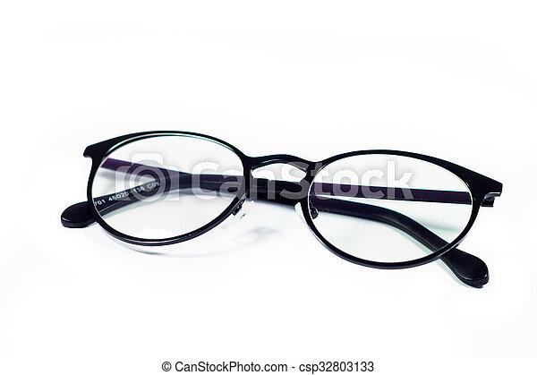 Eyeglasses isolated on white background - csp32803133