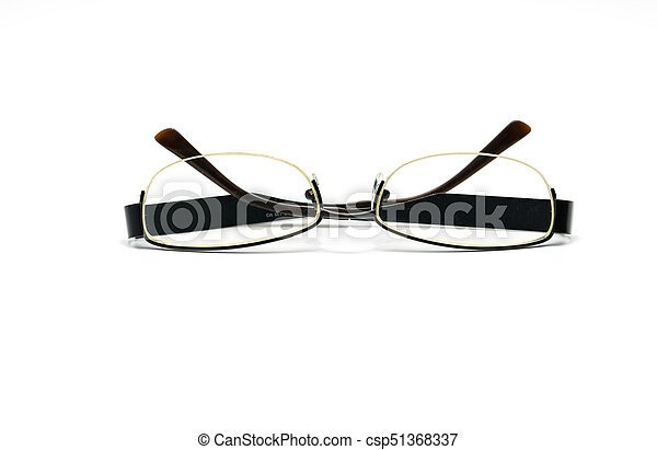 Eyeglasses isolated on white background - csp51368337
