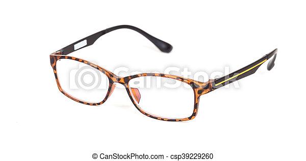 eyeglasses on isolated background - csp39229260