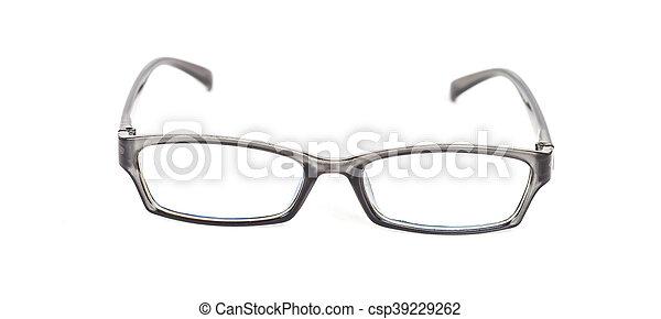 eyeglasses on isolated background - csp39229262