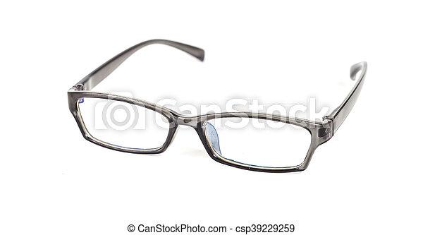 eyeglasses on isolated background - csp39229259