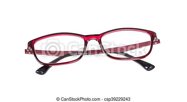 eyeglasses on isolated background - csp39229243