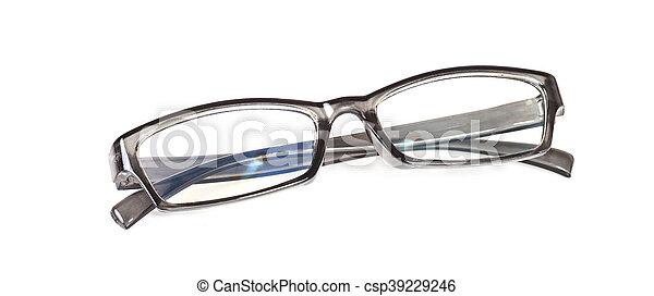 eyeglasses on isolated background - csp39229246