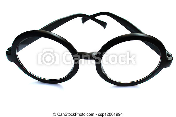 Eyeglasses on Isolated White Background - csp12861994