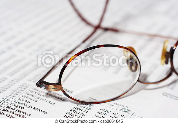 eyeglasses on stocks - csp0661645