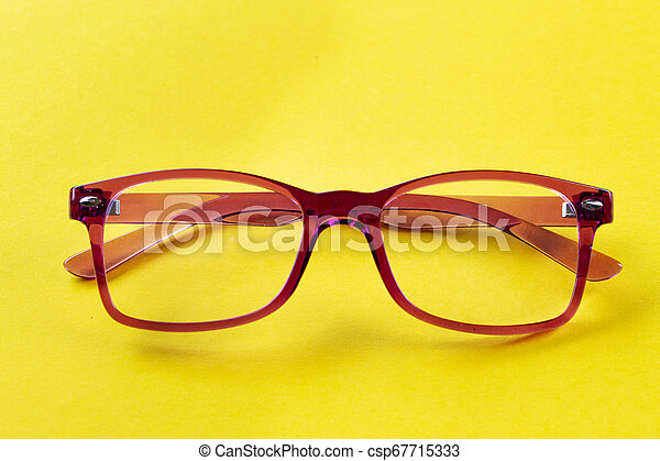 eyeglasses on the table - csp67715333