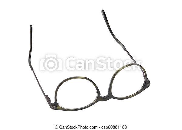 Eyeglasses on white background - csp60881183