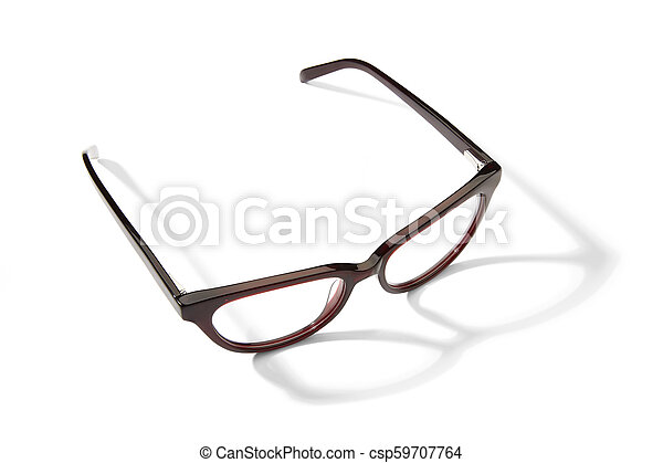 Eyeglasses on white background - csp59707764