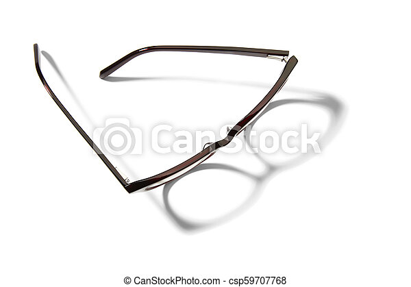 Eyeglasses on white background - csp59707768