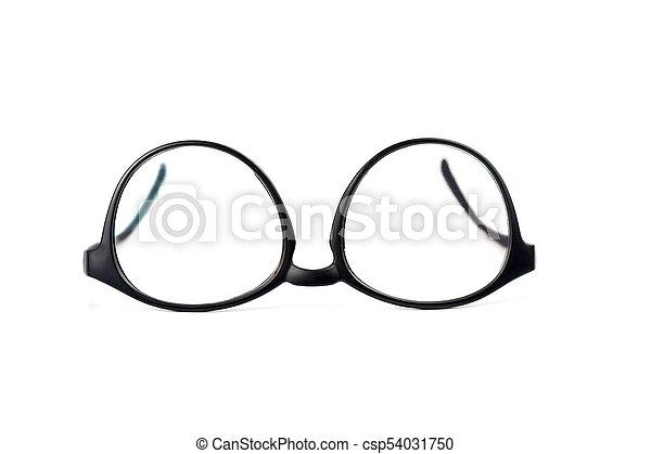 eyeglasses on white background - csp54031750