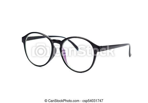 eyeglasses on white background - csp54031747