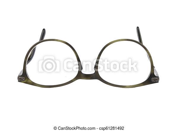 Eyeglasses on white background - csp61281492