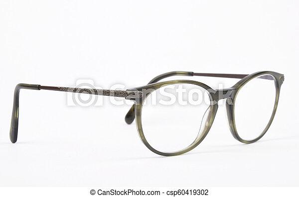 Eyeglasses on white background - csp60419302