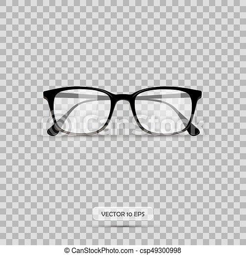 Eyeglasses Vector Illustration Geek Glasses Isolated On A White Background Realistic Icon Eyeglasses