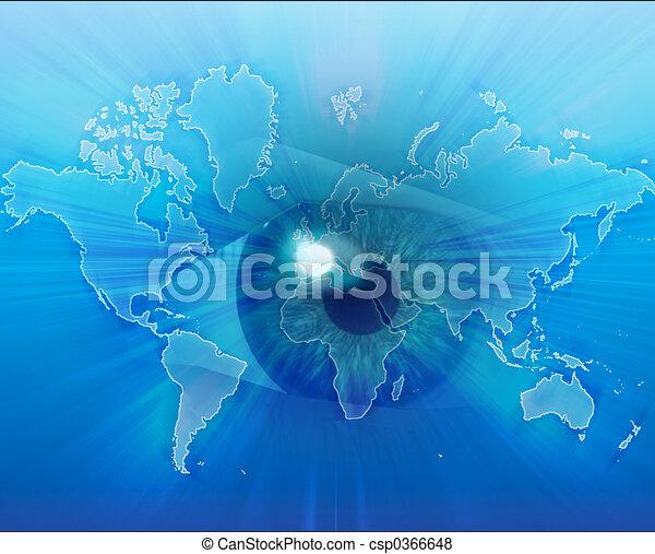 Eyeing the world - csp0366648