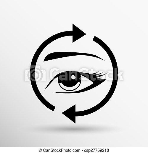 Eyelashes eyebrows vector eyelash eye  icon makeup isolated - csp27759218