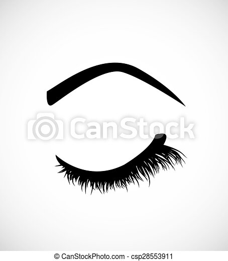 Eyelashes - csp28553911