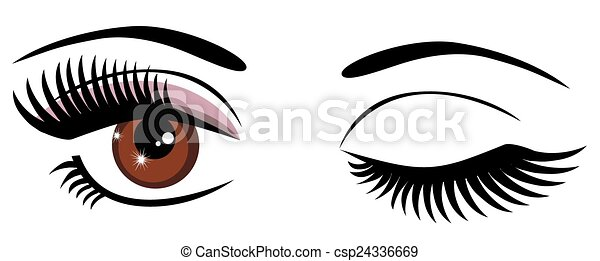 vector brown eyes winking clip art vector search drawings and rh canstockphoto com boy with brown eyes clipart brown eye color clipart