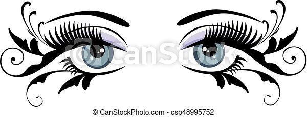eyes floral blue - csp48995752
